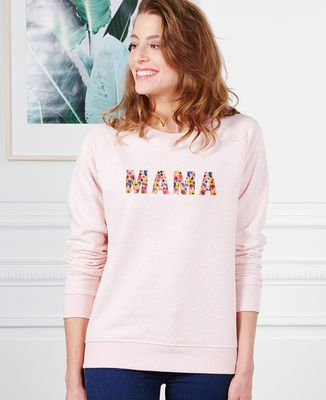 Sweatshirt femme Mama (motif floral)