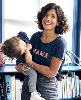 T-Shirt femme Mama (motif floral)