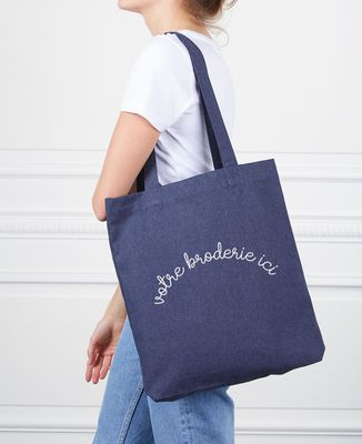 Tote bag Grand message brodé personnalisé