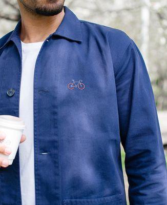 Veste de travail Vélo tricolore (brodé)