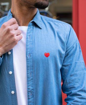 Chemise homme Coeur (brodé)
