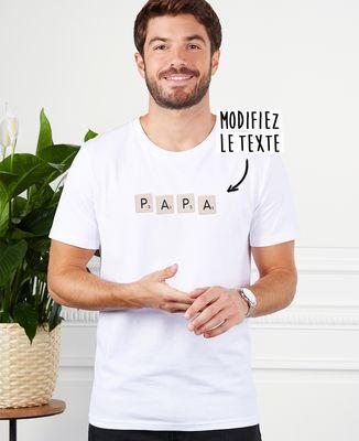 T-Shirt homme Jeu de lettres personnalisé