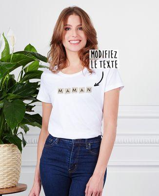 T-Shirt femme Jeu de lettres personnalisé