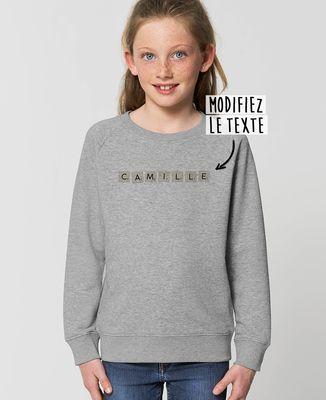 Sweatshirt enfant Jeu de lettres personnalisé