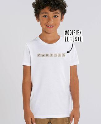 T-Shirt enfant Jeu de lettres personnalisé