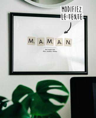 Affiche Jeu de lettres personnalisé