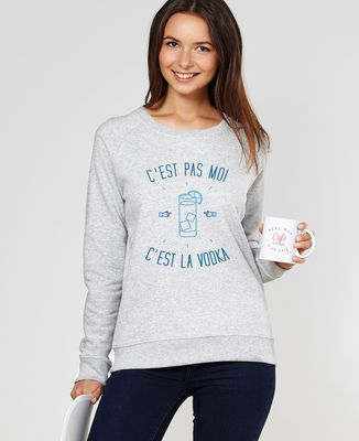 Sweatshirt femme C'est la vodka