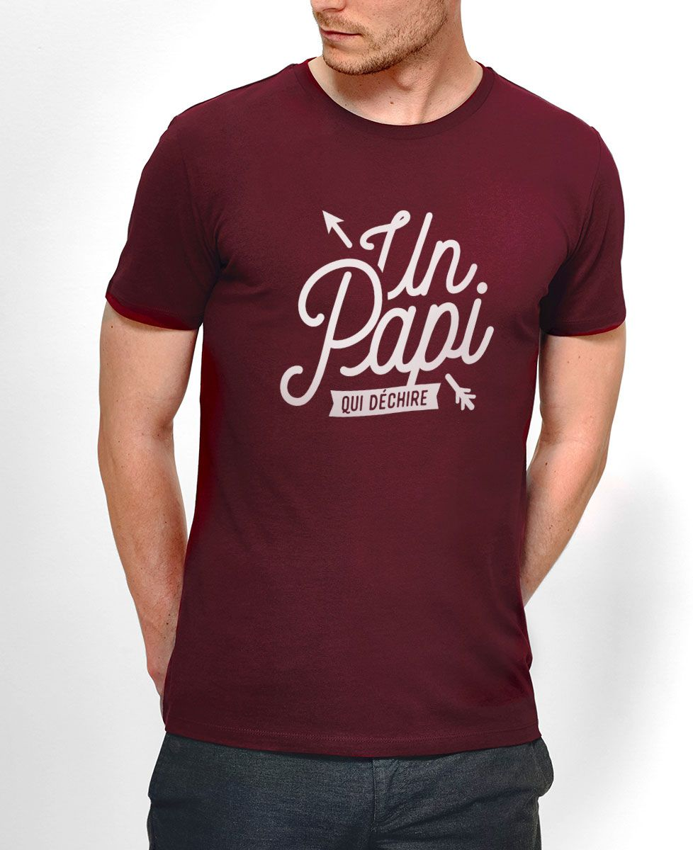 T-Shirt homme Un papi qui déchire