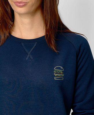 Sweatshirt femme Burger brodé