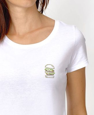 T-Shirt femme Burger brodé