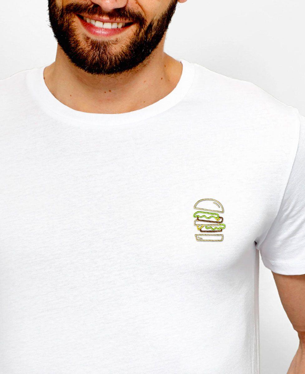 T-Shirt homme Burger brodé