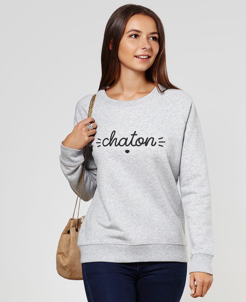 Sweatshirt femme Chaton