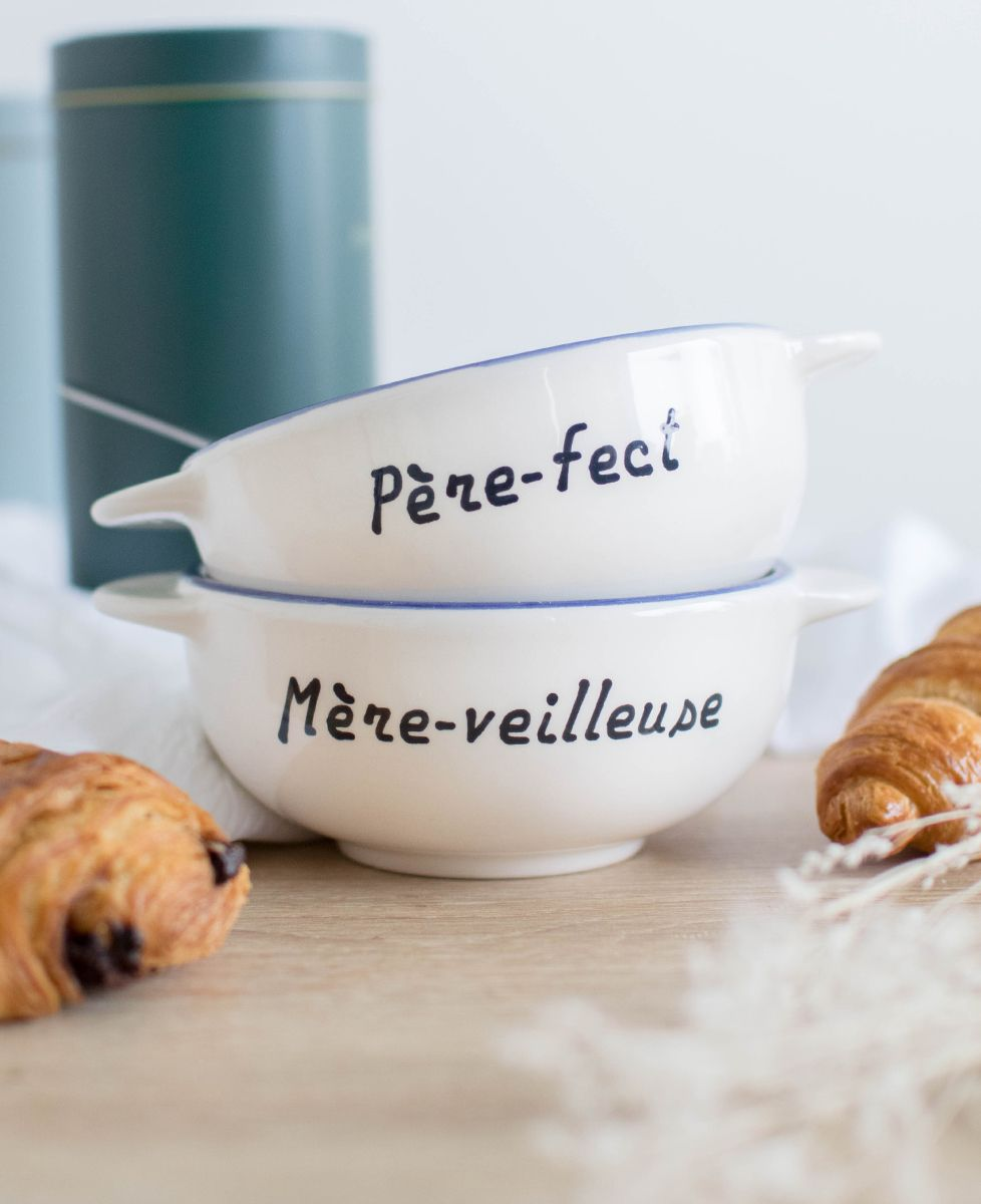 Coffret Duo Bol breton Père-fect + Bol breton Mère-veilleuse
