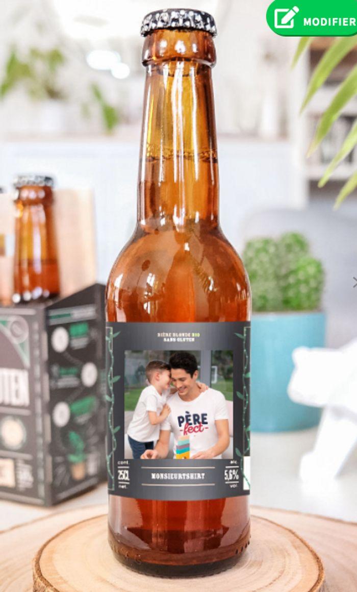 Pack de bières 100% Bio Personnalisées photo et texte