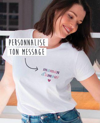 T-Shirt femme Maman multicolore personnalisé