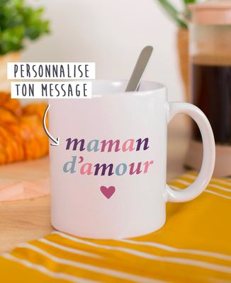 Mug Maman multicolore personnalisé