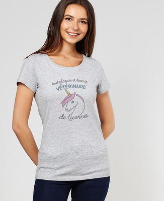T-Shirt femme Vétérinaire de licornes