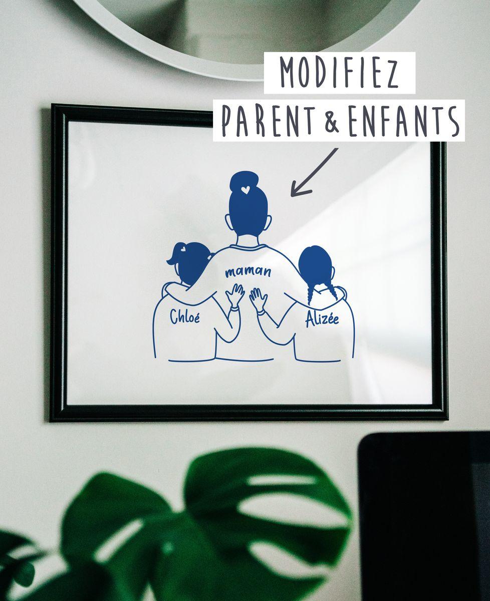 Affiche Parent et enfants personnalisé