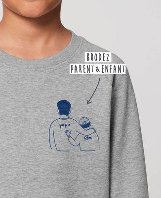 Sweatshirt enfant Parent et enfants brodé personnalisé