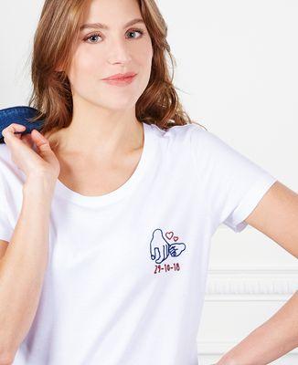 T-Shirt femme Date de naissance brodé personnalisée