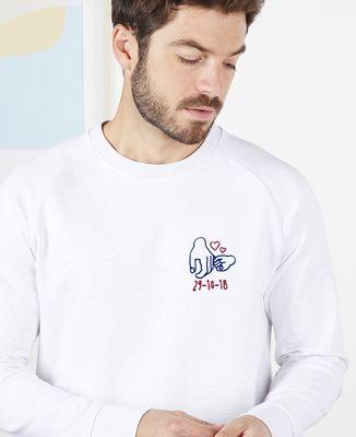 Sweatshirt homme Date de naissance personnalisée