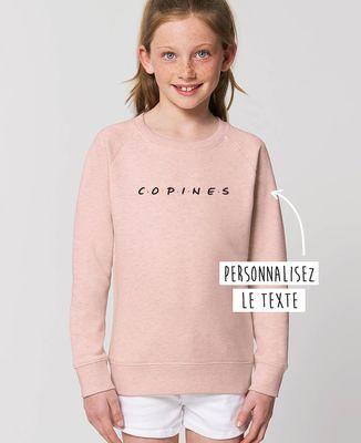 Sweatshirt enfant Copines personnalisé