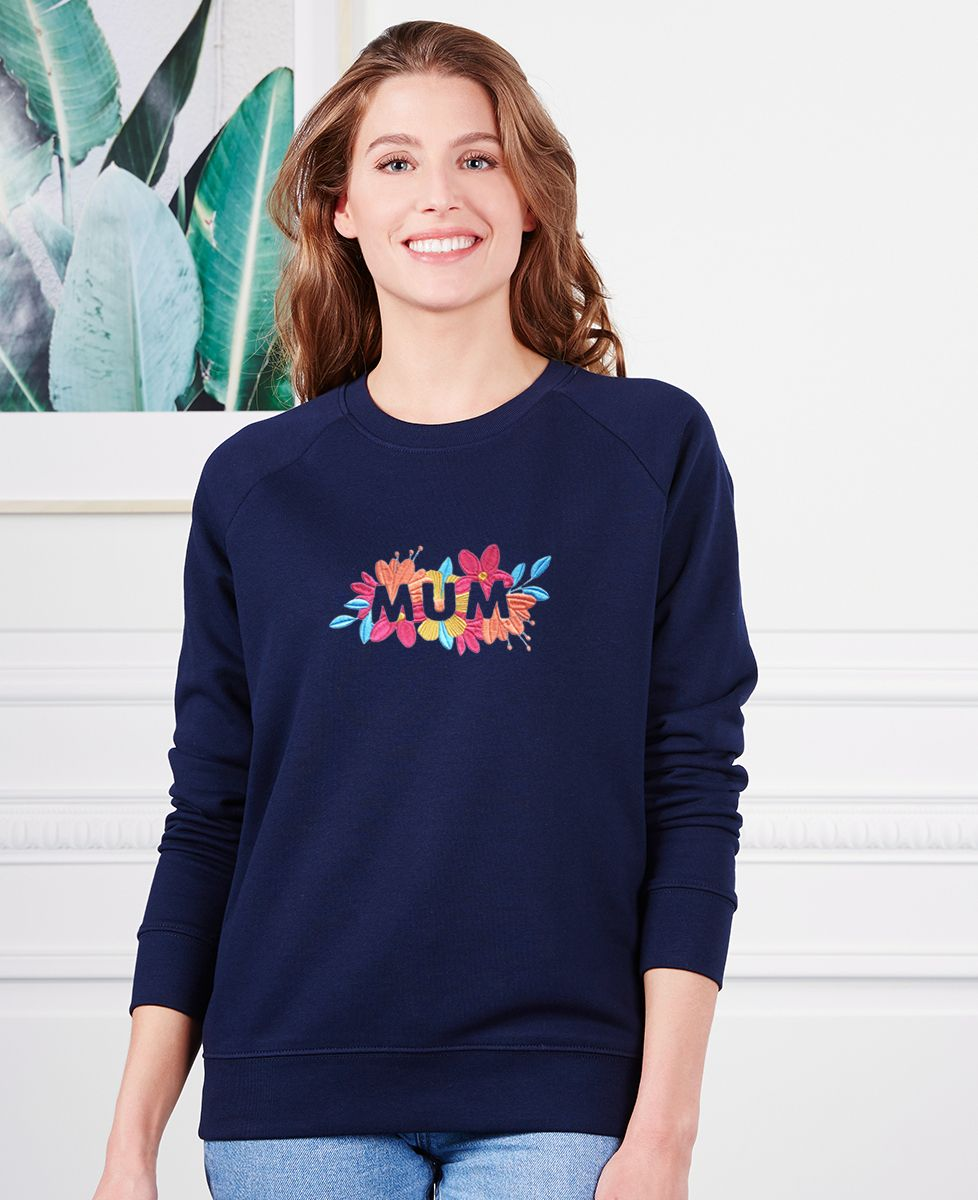 Sweatshirt femme Mum Fleuri