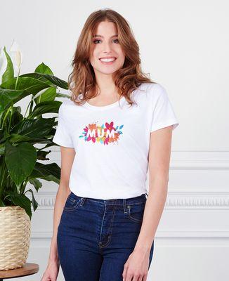 T-Shirt femme Mum Fleuri (brodé)