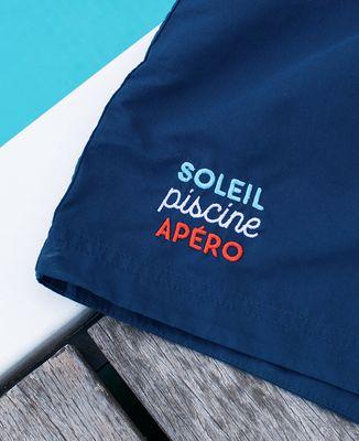 Short de Bain Soleil piscine apéro (brodé)
