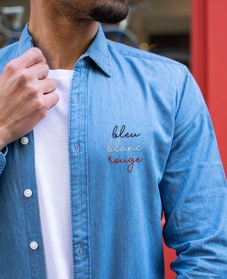 Chemise homme Bleu Blanc Rouge (brodé)