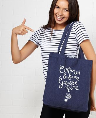 Tote bag Copines, bibines, grosses mines