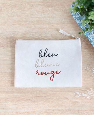 Pochette Bleu Blanc Rouge (brodé)