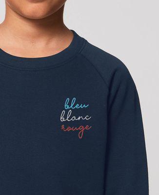 Sweatshirt enfant Bleu Blanc Rouge (brodé)
