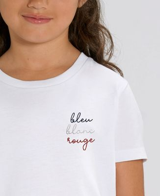 T-Shirt enfant Bleu Blanc Rouge (brodé)