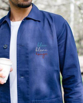 Veste de travail Bleu Blanc Rouge (brodé)