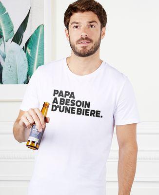 Fête des Pères Cadeau T-shirt Homme Anniversaire T-shirt en cas de doute boire un Stout Tee