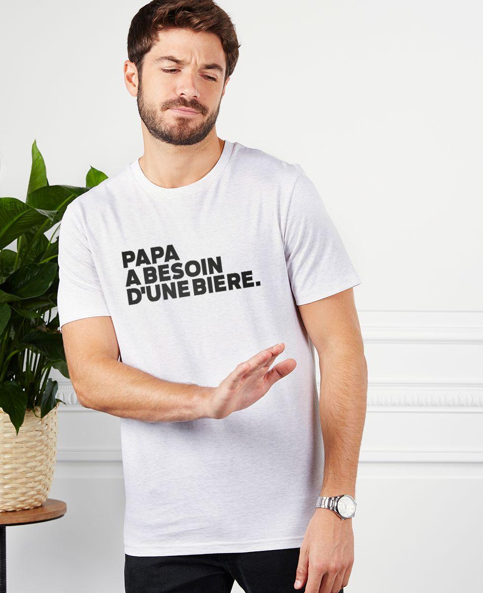 T-Shirt homme Papa a besoin d'une bière