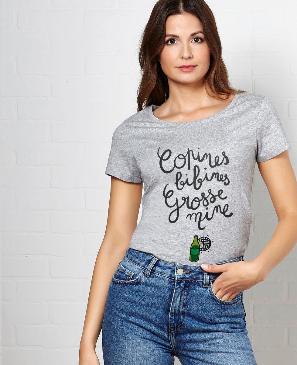 T-Shirt femme Copines, bibines, grosses mines