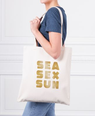 Tote bag Sea Sex Sun