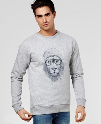 Sweatshirt homme Cool lion