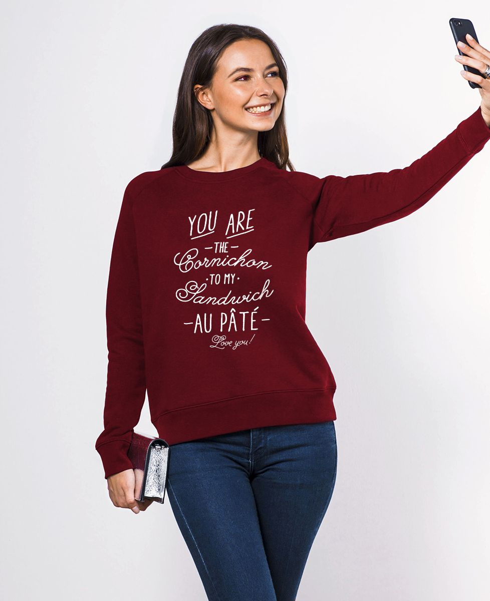 Sweatshirt femme Cornichon