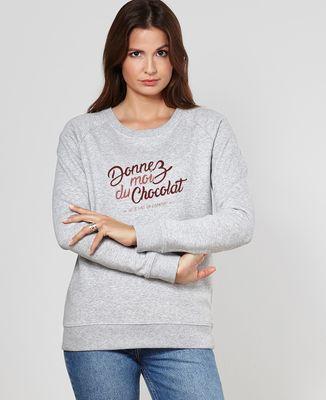 Sweatshirt femme Donnez moi du chocolat