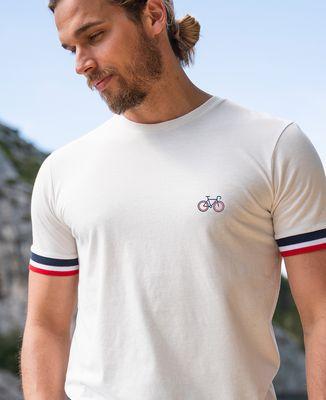 T-Shirt homme Filgood Vélo tricolore (brodé)