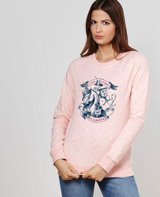 Sweatshirt femme Du rhum, des hommes et des licornes