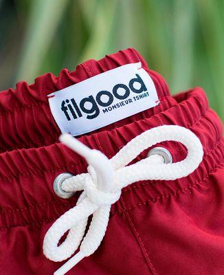 Short de bain recyclé Filgood Filgood Sauveteur Idéal (brodé)