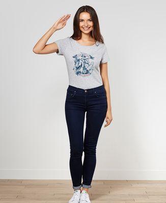 T-Shirt femme Du rhum, des hommes et des licornes