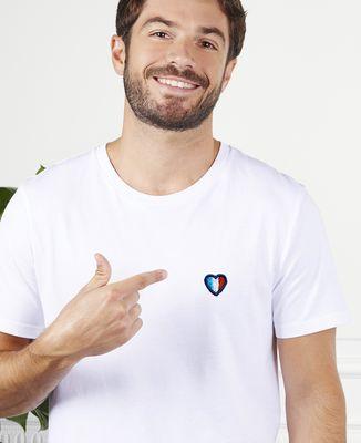 T-Shirt homme Coeur français (brodé)