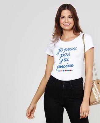 T-Shirt femme Je peux pas j'ai piscine
