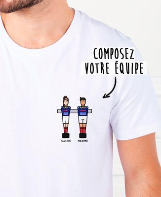 T-Shirt homme Babyfoot duo personnalisé