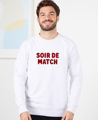 Sweatshirt homme Soir de match (effet velours)